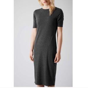 TopShop. Side zipper T-shirt jersey dress